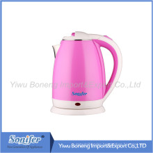 1.8 L Colourful Electric Kettle Hotel Water Kettle Stainless Steel Kettle Sf-2007 (Pink)