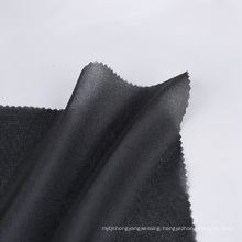 Dry cleanable twill weave woven lining and interlining