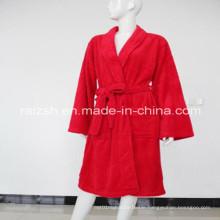 100% Polyester Solid Polar Fleece Women Robes