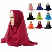 Plain color glittery hijab fashion Muslim scarf