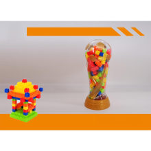 Educational Plastic Toy World Cup Jar Building Blocks