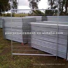 PVC beschichtete und verzinkte temporäre Zaunfertigung