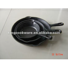 3-piece seasoned cast iron skillet set