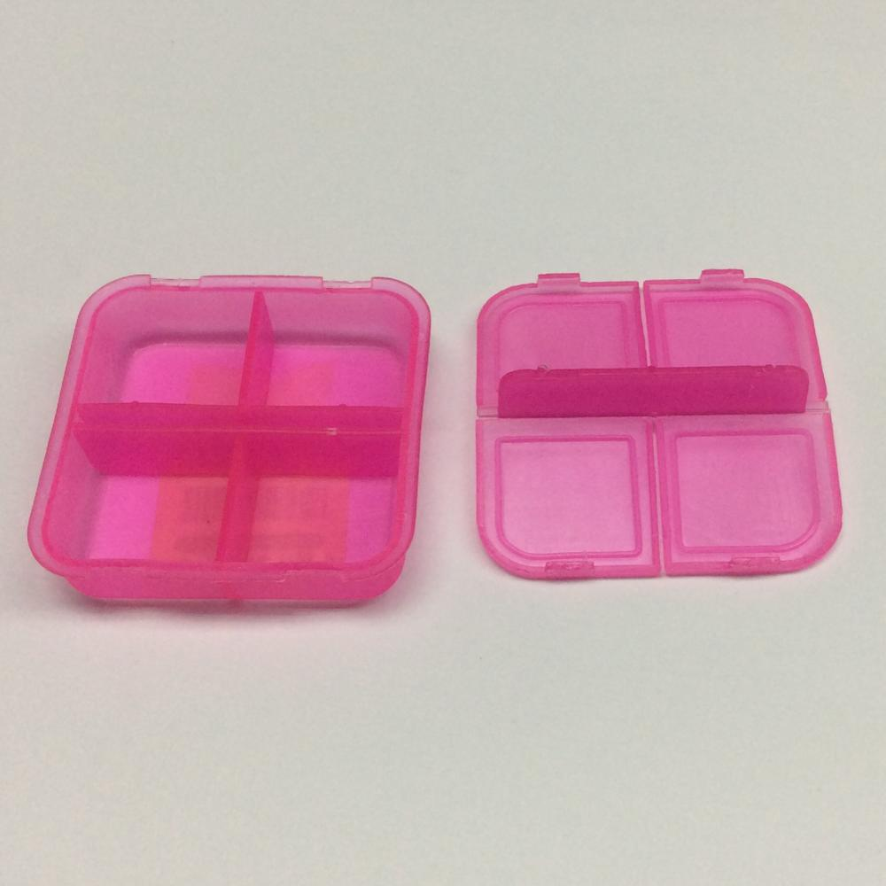plastic portable four-grid pill case