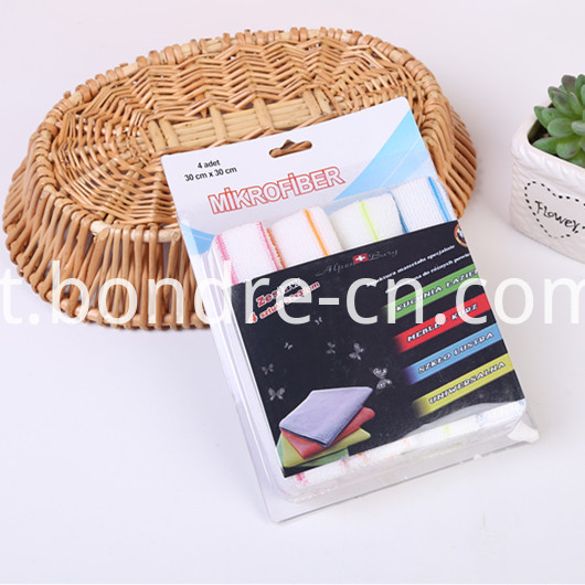 Solid Color Microfiber Cleaning Cloth Set in PVC Box (7)