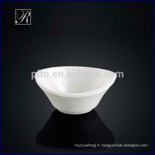 Usine de porcelaine P & T, jolie plate-forme oval de soucoupe de soja, plat de beurre de wasabi