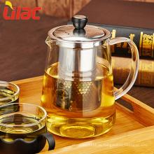 Lilac FREE Sample borosilicate glass tea set