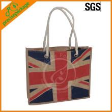 Sacola de compras personalizada 100% natural Jute Bag