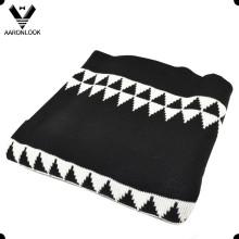 2016 Moda 100% Acrílico Geometria Jacquard Cobertor para o Inverno