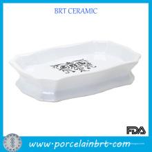 Plato de jabón de cerámica blanco personalizado
