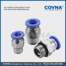 Conexión / acoplamiento / acoplamiento de plástico neumático rápido