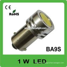 Emission de couleur blanche BA9S 1W lampe de voiture à haute puissance