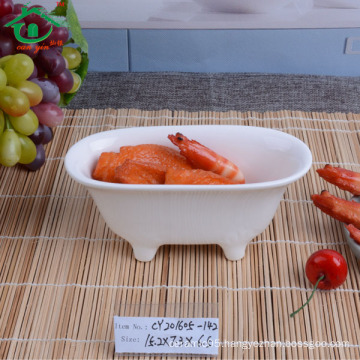 China supplier Custom bathtub shape ceramic dish dinner dishes