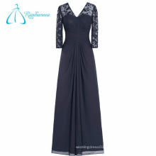 Lace Pleat Criss-Cross Mother Of The Bride Dress With Sleeves