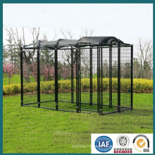 New Products 2016 Black Powder Coated Welded High Quality Dog Kennel, Wire Mesh Fencing Dog Kennel (from a real factory)