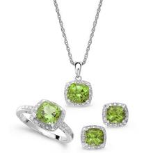 925 pendientes de plata esterlina Pendientes y anillos de joyería conjunto