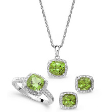 925 Sterling Silver Pendants Earrings and Rings Jewelry Set