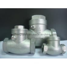 Válvula de retenção de rotação de rosca de aço inoxidável H14