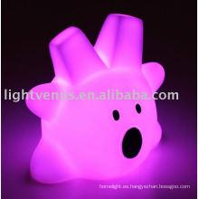 2011 sala de plástico de colores led luz de la noche de los niños