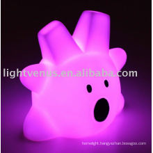 2011 Colorful plastic room led kids night light