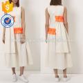 Новая мода Белый платье Миди с оборками Производство Оптовая продажа женской одежды (TA5233D)