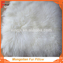Long Hair Curly Mongolian Fur Cushion