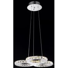 Último diseño moderno cristal LED colgante de iluminación (mp77057-27)