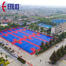 Interlocking Sports Flooring Court Basketball Court