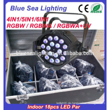 LED 18pcs 12w Par Licht 4in1 RGBW Innen-Par-Licht Fabrik Preis