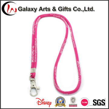 Custom Printed Polyester Round ID Card Rope Lanyard