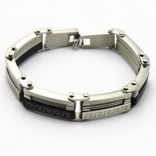 Gold membro pulseira de aço inoxidável novos itens no mercado para os homens da moda
