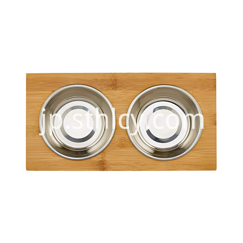 Stainless steel cat and dog food bowl