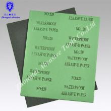 Wasserdichter Sandpapier Soem-niedrigster Preis für das Polieren von Holz / Grünbuchschwarzsand