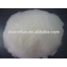 Dehaired y Carded Chinese Lamb Wool White 17.5mic / 30-32mm