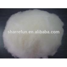 Dehaired et cardé laine d'agneau chinois blanc 17.5mic / 30-32mm