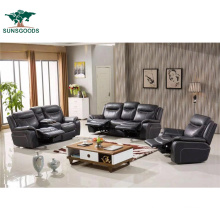 Top Grain Chaise Sectional Living Room Leisure Leather Sofa Furniture