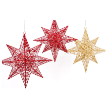 metal Christmas polygonal  star decorations indoor ornament