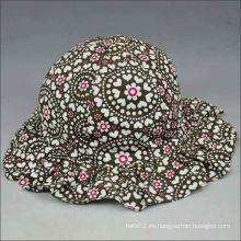Casquillo floral del sombrero