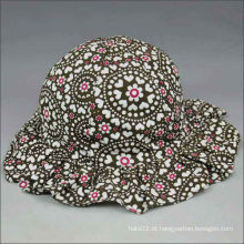 Boné de chapéu floral