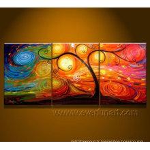 Peinture à l'huile abstraite à l'arc moderne sur toile (LA3-016)