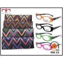 Ladies Fashion Plastic Eyewear Lunettes Lunettes de lecture avec pochette (MRP21661)