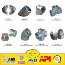 Enchufe ANSI B16.11 y accesorios de tubería de acero al carbono forjado roscado