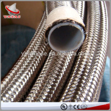 PTFE Teflon Hose Braided With Stainless Steel