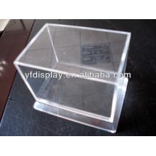 Caixa de exposição de alta qualidade do plexiglás da venda quente, caixa de exposição acrílica clara