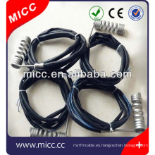 Calentador eléctrico de bobina para boquilla caliente