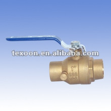 Fully welded brass ball water waste valves with drain