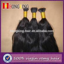 Pelo a granel del pelo crudo de la Virgen india