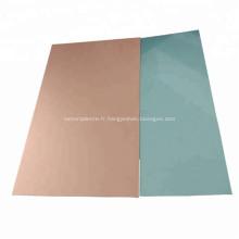 4047 5052 FR4 Base en aluminium plaque plaquée cuivre
