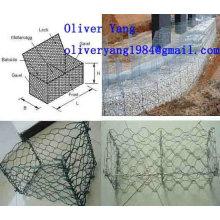 8x10cm PVC beschichtete galvanisierte gesponnene gabion Matratze oder Kasten oder Korb oder Wand