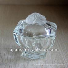 Tarro de cristal hermoso de la caja de joyería para la decoración o el regalo